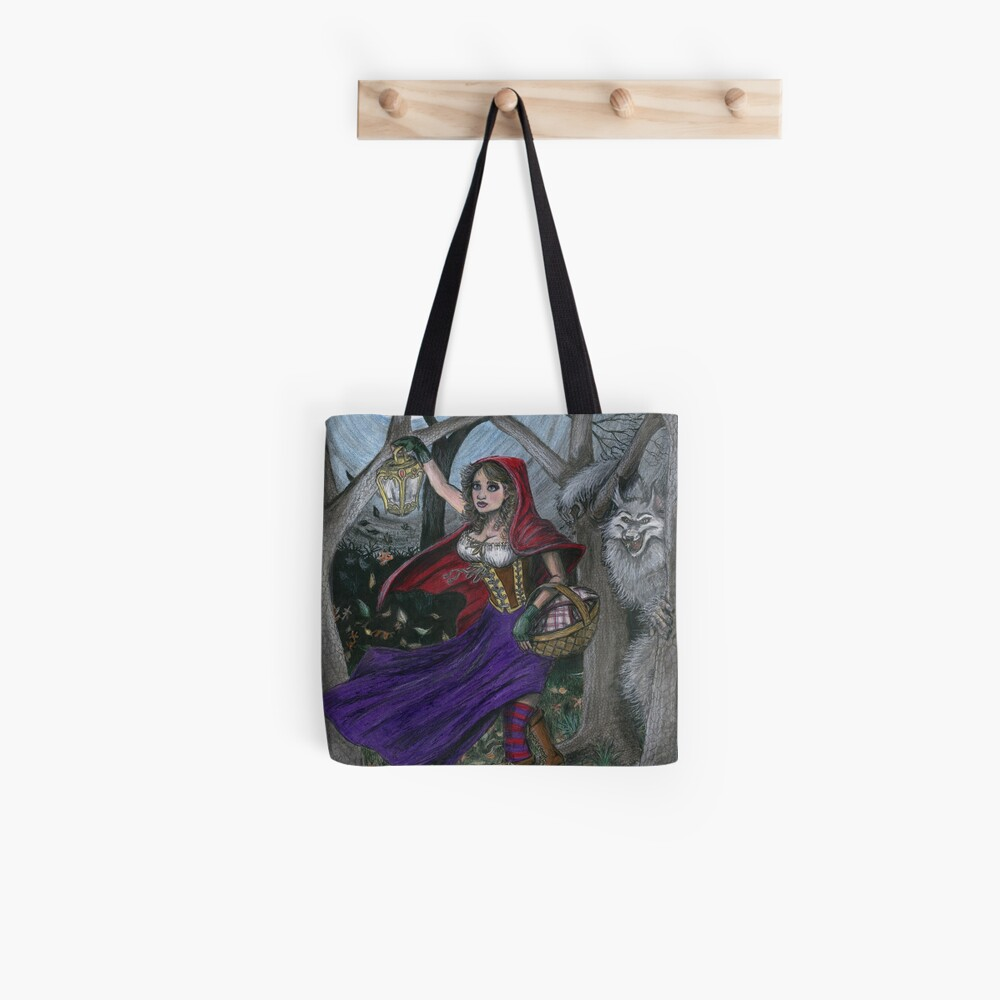 Little Red and the Big Bad Wolf Tote Bag