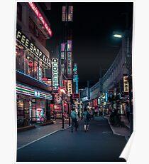 Tokyo at Night (Ueno2) Poster