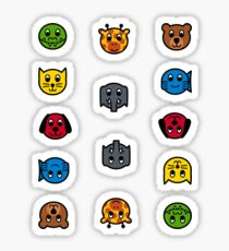 English AnimalNoteHeads Stickers Sticker