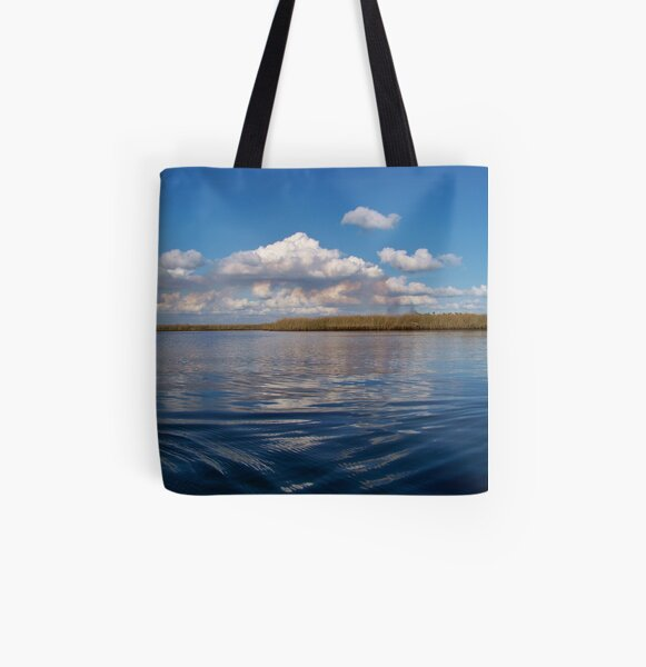 Sawgrass and clouds All Over Print Tote Bag