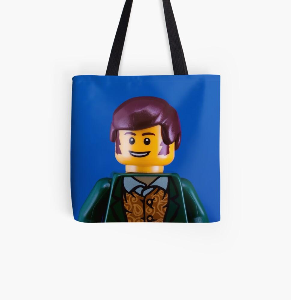 Robbie Burns Portrait All Over Print Tote Bag