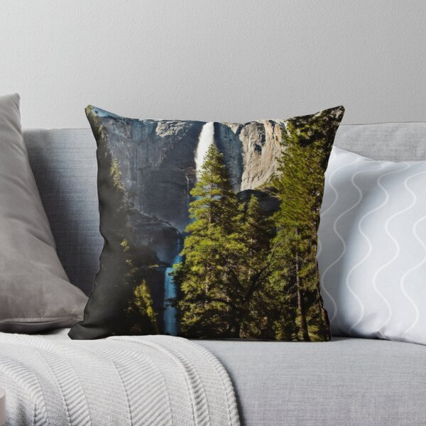 Yosemite Falls Throw Pillow