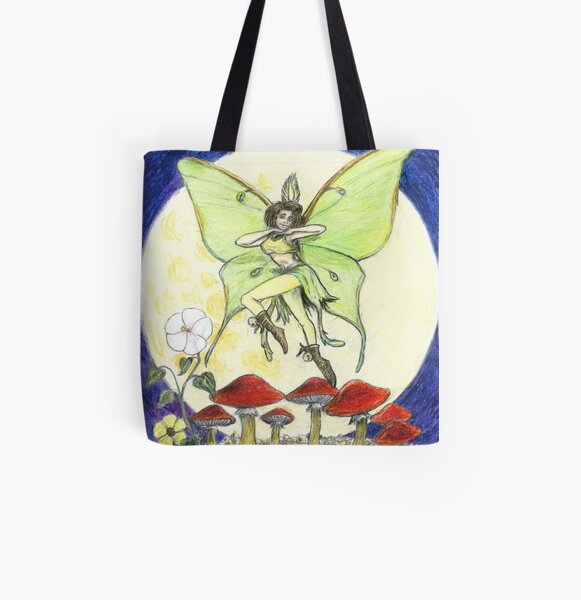 Luna Moth All Over Print Tote Bag