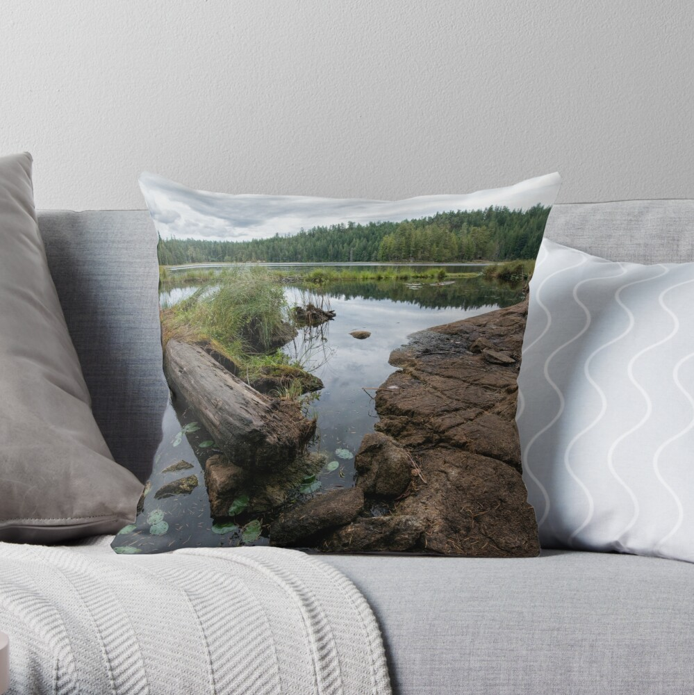The Lake at Grace Harbour Throw Pillow