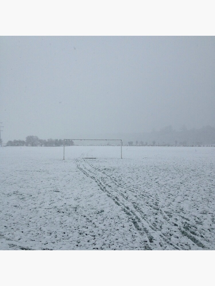 Football pitch. Snow by robsteadman