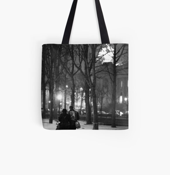 From Paris with Snow All Over Print Tote Bag