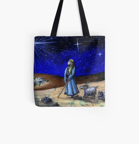 Silent Night All Over Print Tote Bag