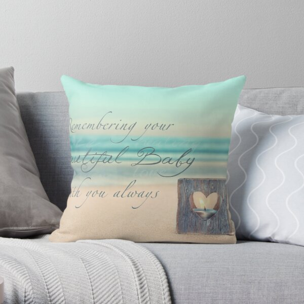 Remembering Your Baby Throw Pillow