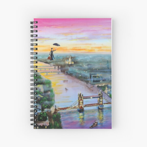 Mary Poppins London Up to the highest height Spiral Notebook