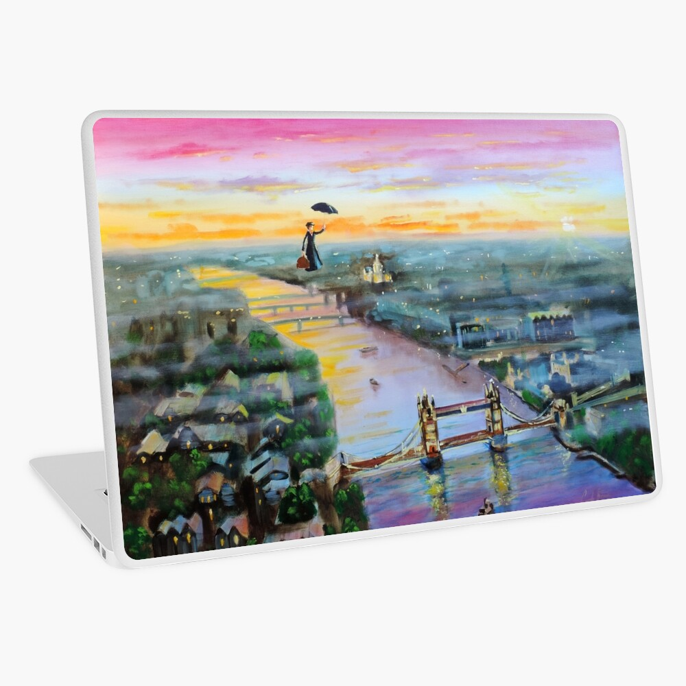 Mary Poppins London Up to the highest height Laptop Skin