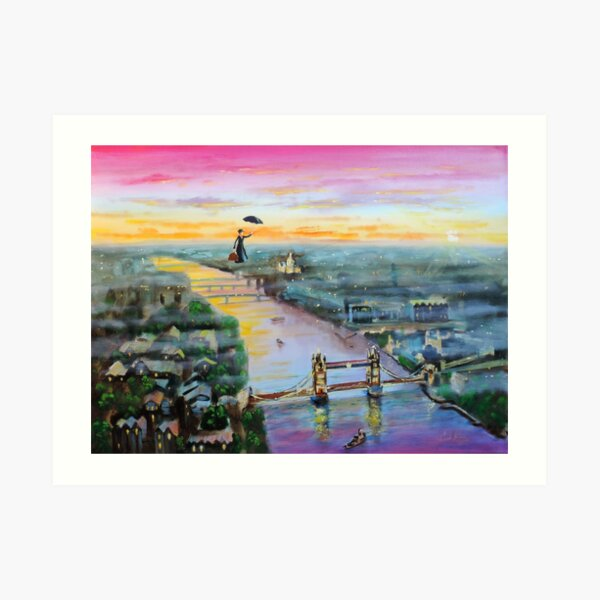 Mary Poppins London Up to the highest height Art Print