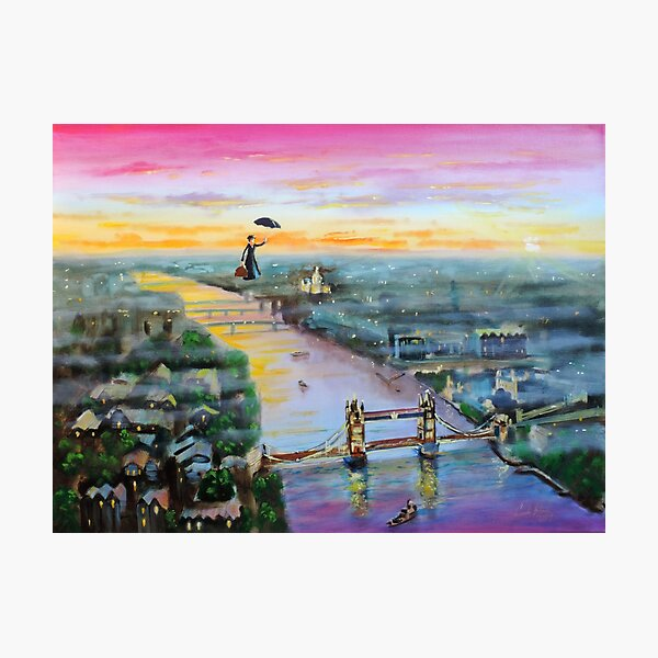 Mary Poppins London Up to the highest height Photographic Print