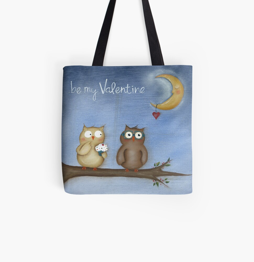 Be My Valentine All Over Print Tote Bag