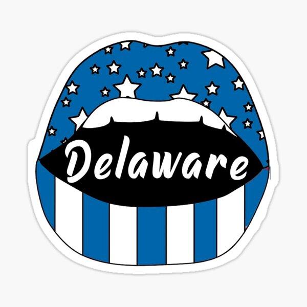 Delaware Lip Sticker Sticker
