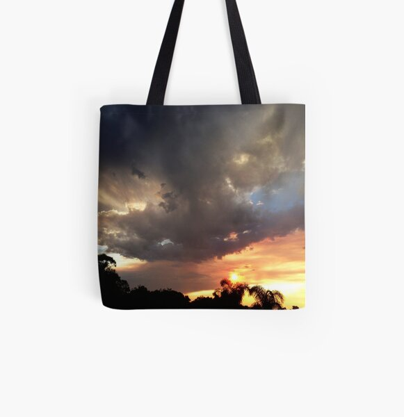 Sunset in Frankland Last Night All Over Print Tote Bag