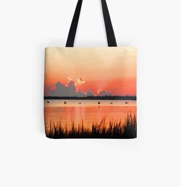 VILLAGE SUNRISE All Over Print Tote Bag