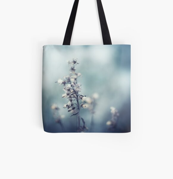 Winter Flowers All Over Print Tote Bag