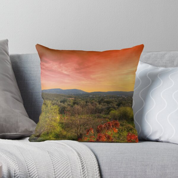 Sao Bras de Alportel Sunset Throw Pillow