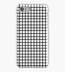 Grid - black and white minimal modern grid pattern print gifts for urban iPhone Case/Skin