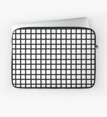 Grid - black and white minimal modern grid pattern print gifts for urban Laptop Sleeve