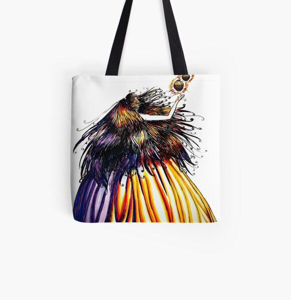 Lantern Princess All Over Print Tote Bag