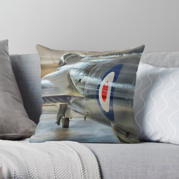 Hawker Hunter Reflections - Duxford - HDR Throw Pillow