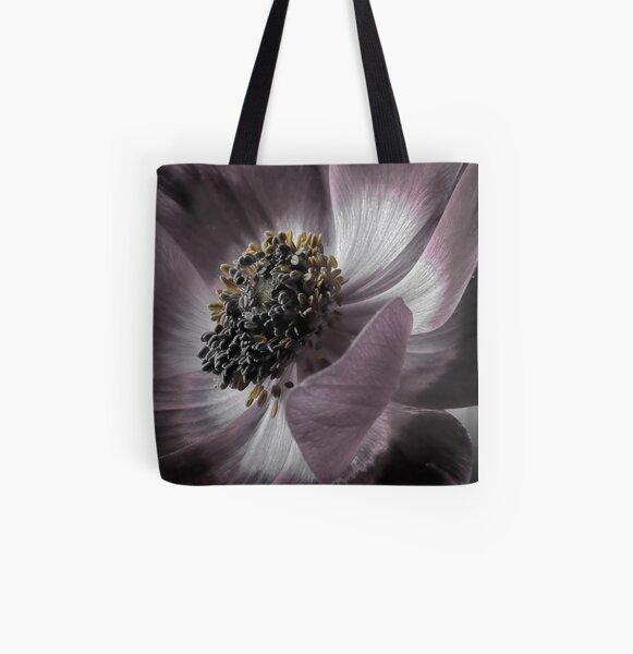 Magenta Anemone All Over Print Tote Bag