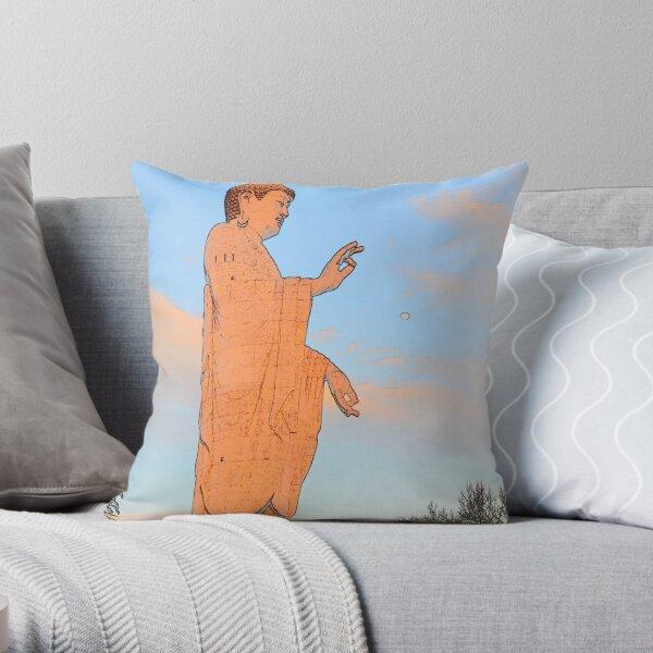 Ushiku Daibutsu 7 Throw Pillow