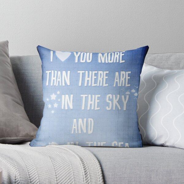 I ♥ you more Throw Pillow