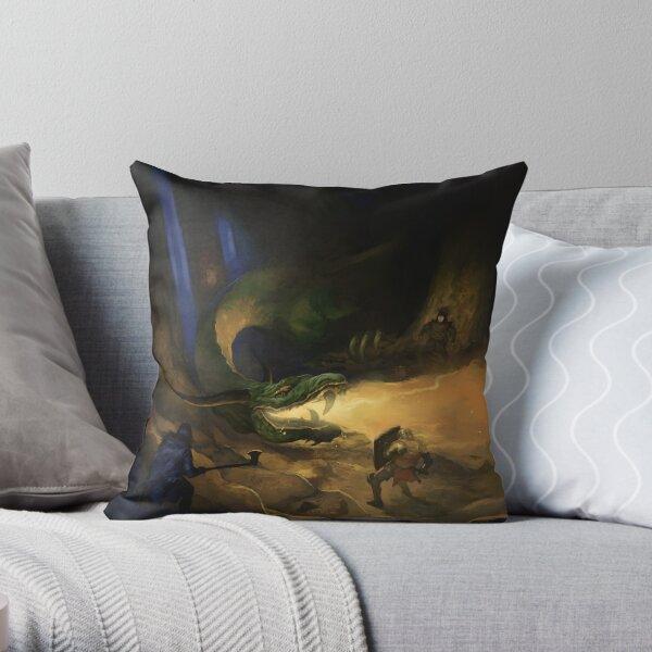 Dragon Warriors Bestiary Throw Pillow