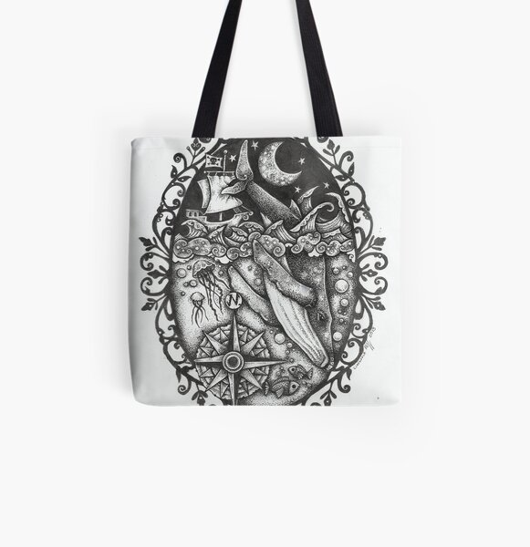 The Whales Revenge All Over Print Tote Bag