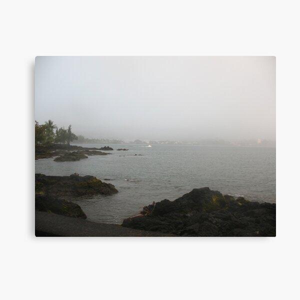 Hilo Bay on a Foggy Day Canvas Print