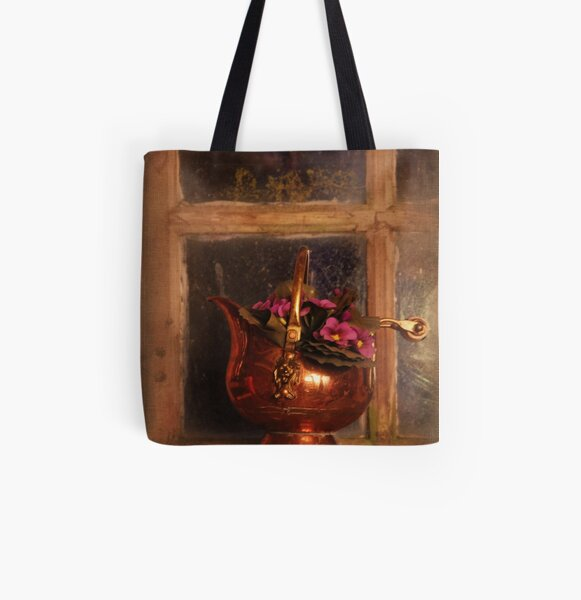 Copper with flowers All Over Print Tote Bag