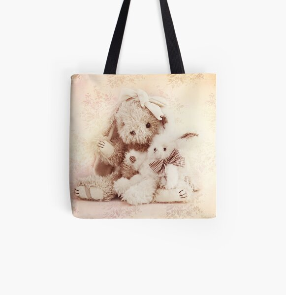 Two little rabbits All Over Print Tote Bag