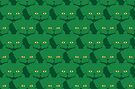 Solid Green Cat Cattern [Cat Pattern] by Brent Pruitt