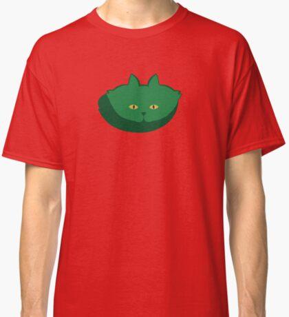 Solid Green Cat Cattern [Cat Pattern] Classic T-Shirt