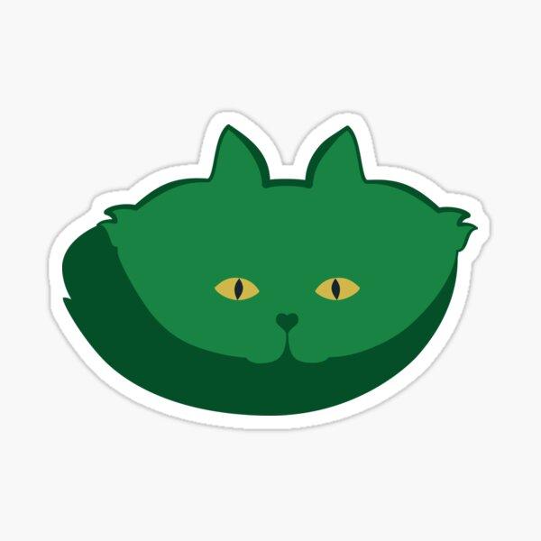 Solid Green Cat Cattern [Cat Pattern] Sticker