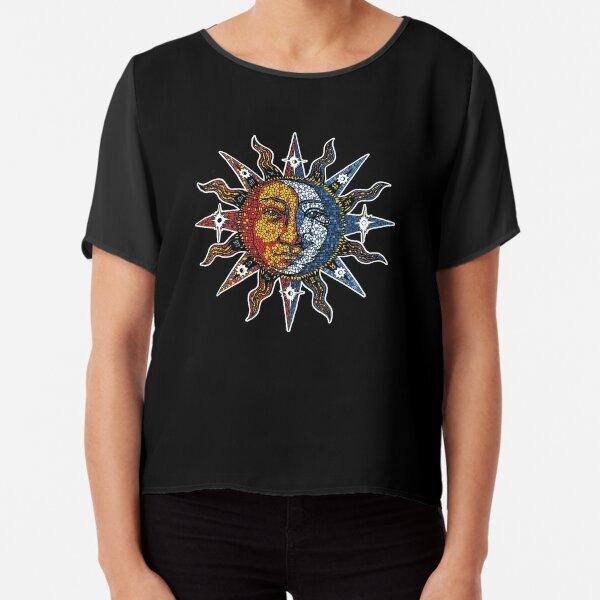 Celestial Mosaic Sun/Moon Chiffon Top
