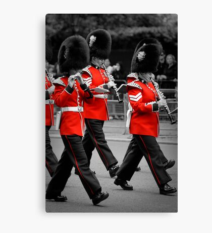 Queen's Guards Band: Trooping the Colour, London. Canvas Print