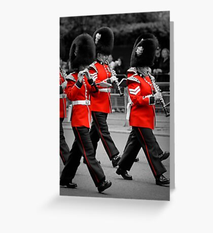Queen's Guards Band: Trooping the Colour, London. Greeting Card