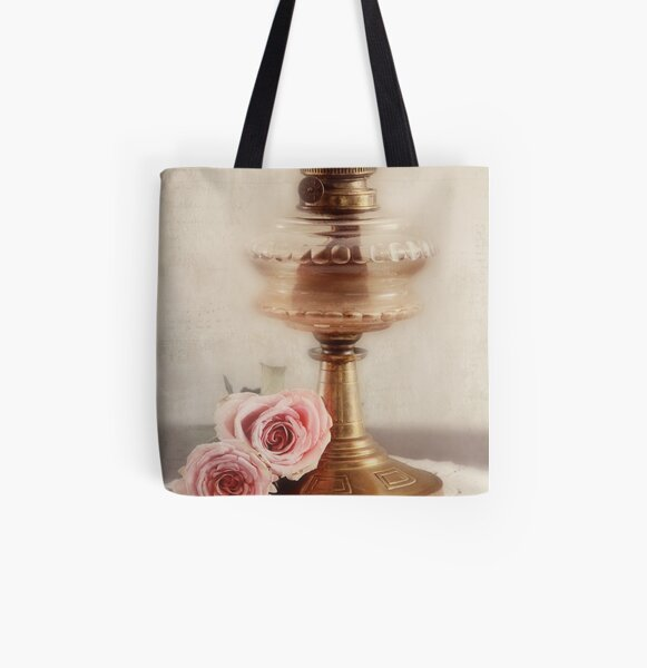 Light and roses All Over Print Tote Bag