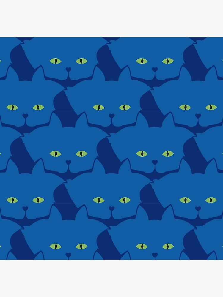 Solid Blue Cat Cattern [Cat Pattern] by brentpruitt