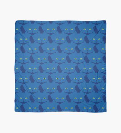 Solid Blue Cat Cattern [Cat Pattern] Scarf