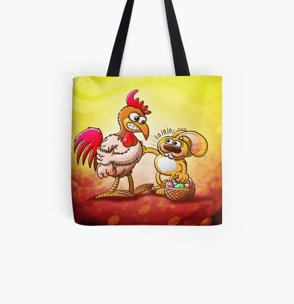 Easter Bunny in Trouble All Over Print Tote Bag