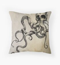 Skulltapus Throw Pillow
