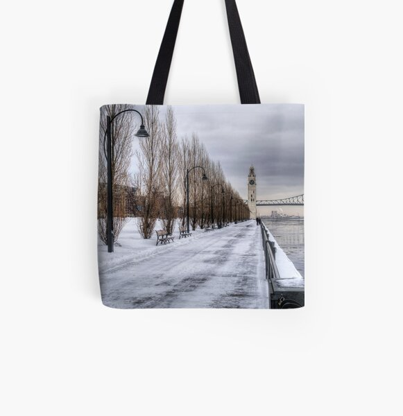 The Clocktower, Montreal All Over Print Tote Bag