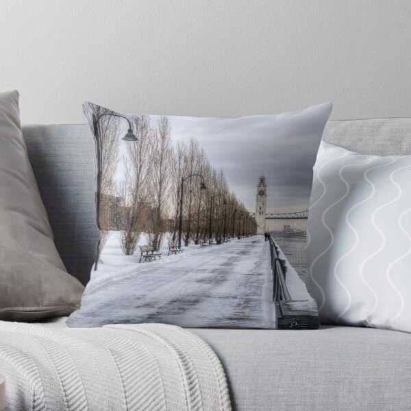 The Clocktower, Montreal Throw Pillow