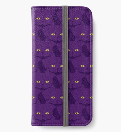 Solid Violet Cat Cattern [Cat Pattern] iPhone Wallet