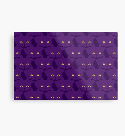 Solid Violet Cat Cattern [Cat Pattern] Metal Print