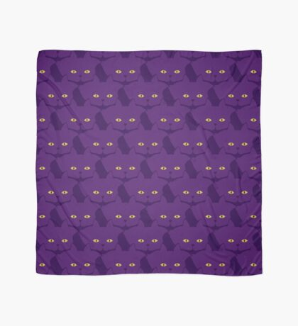 Solid Violet Cat Cattern [Cat Pattern] Scarf